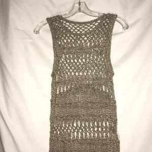 NWOT Unbranded Macramae Cover up In a juniors Sz S
